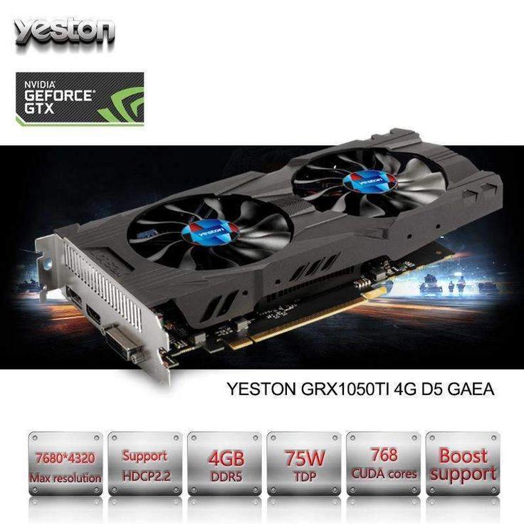 NVIDIA GeForce GTX 1050 Ti GPU 4GB GDDR5 128 bit Gaming Graphics Card:BiBset.com