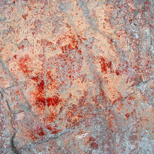 Kalliomaalaus, aika epäselvä? Mitä sinä näät tässä? Löytäjä Jussi Kivi vuonna 1996.