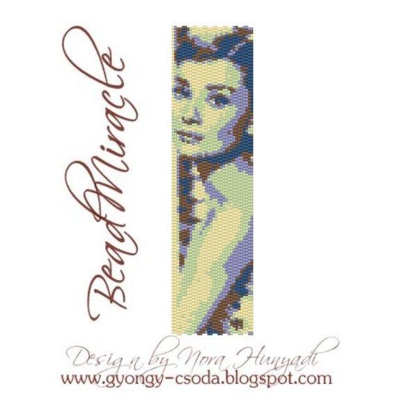 Audrey Hepburn PDF Peyote Bracelet Pattern by beadmiracle on Etsy