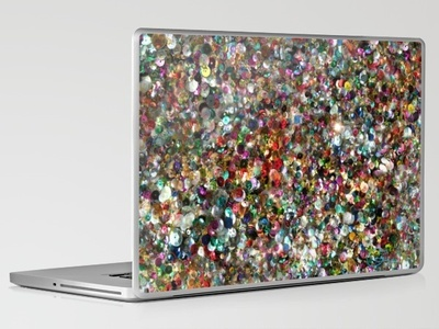 Sequin laptop skin a little bling bling