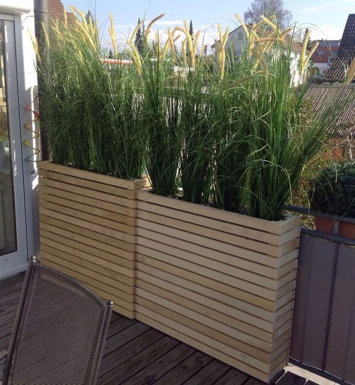 Plantenbak #DIY  Tall wooden planters  Grass