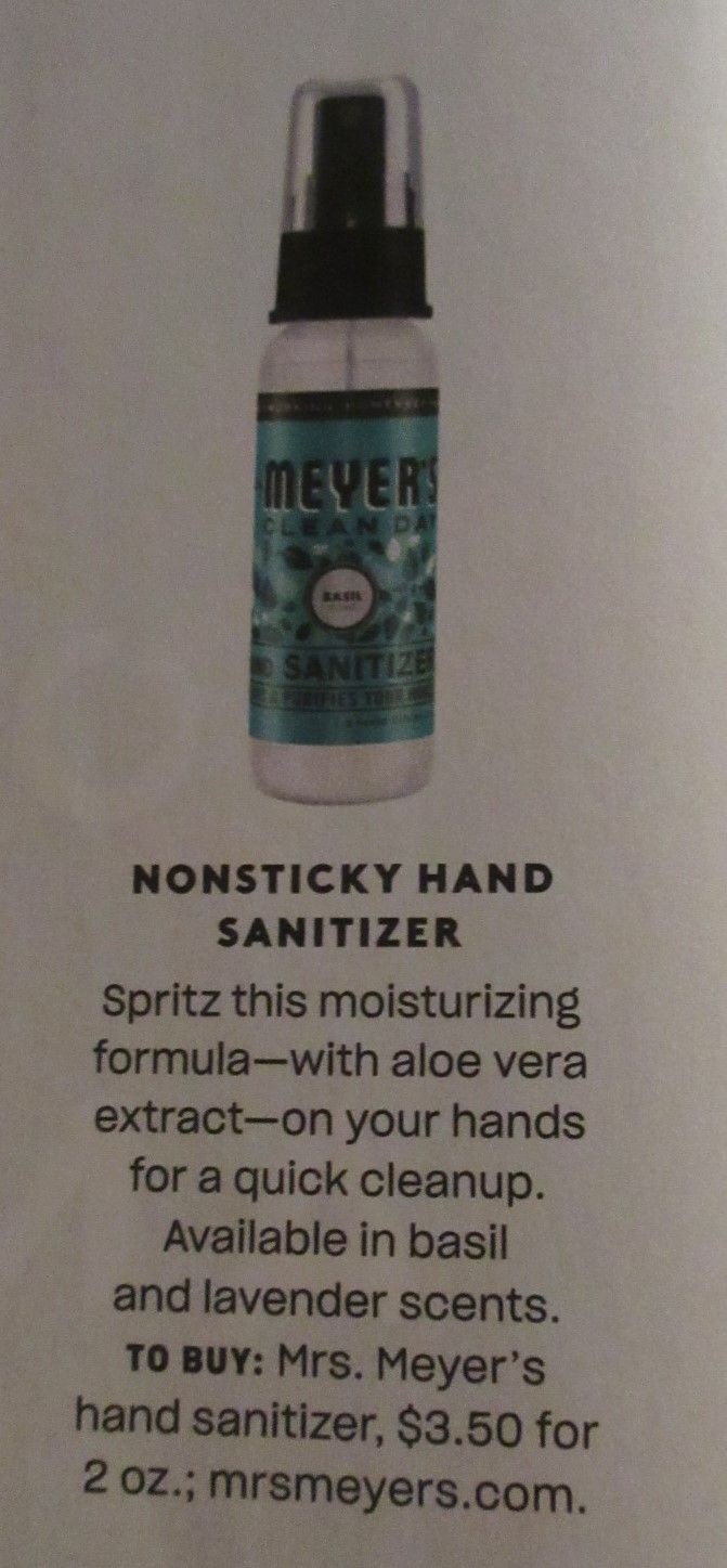 Meyer Non Sticky Hand Sanitizer Hand Sanitizer Lavender Scent Aloe