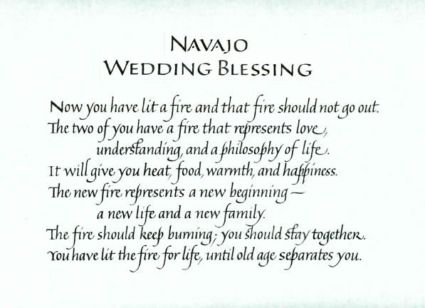 Navajo wedding blessing