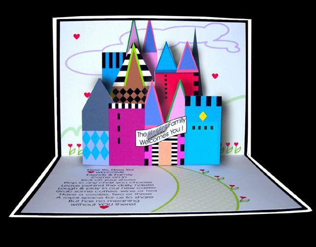 Картинках, открытка с объемным замком