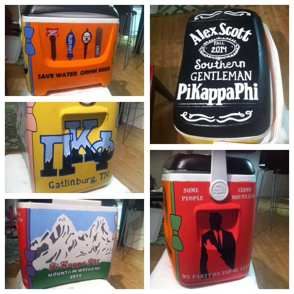 save water drink beer, pi kapp, pi kappa phi, cooler mountain weekend