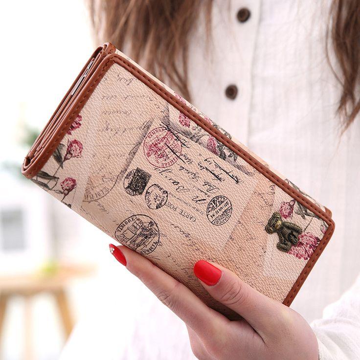$22.00 (Buy here: https://alitems.com/g/1e8d114494ebda23ff8b16525dc3e8/?i=5&ulp=https%3A%2F%2Fwww.aliexpress.com%2Fitem%2F2016-New-Vintage-Women-wallet-long-design-women-wallets-PU-leather-female-wallet-Free-Shipping%2F32664218406.html ) 2016 New  Vintage Women wallet long design women wallets PU leather  female wallet Free Shipping for just $22.00