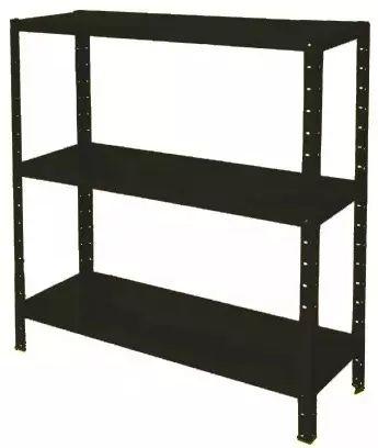estante de aço multi-uso 30cm 3 prateleiras 30kg/prat preta