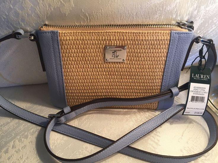 RALPH LAUREN  Leather Straw PERCY Crossbody Bag  NWT  $108 #RalphLauren #MessengerCrossBody