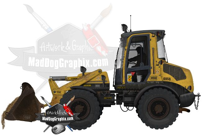Construction frontend loader or shovel equipment on MadDogGraphix.com
