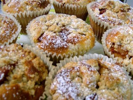Äppel och kanel muffins med crumble