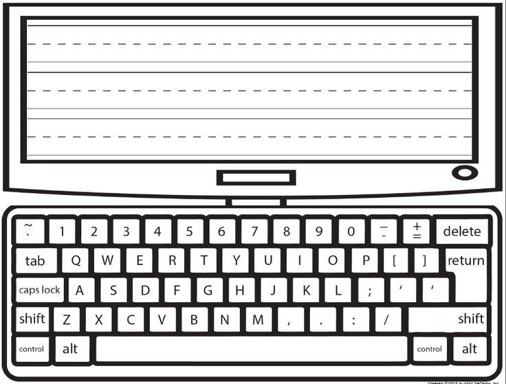 Type and Write Laptop Word Work Freebie!  Great Simple idea