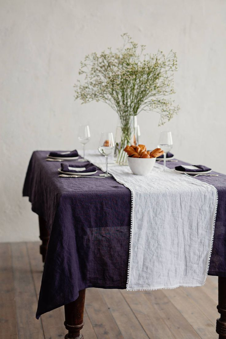 Gray Linen Tablecloth Gray Rustic Linen Washed Grey Linen Tablecloth Softened Linen Rustic Wedding Tablecloth Easter tablecloth