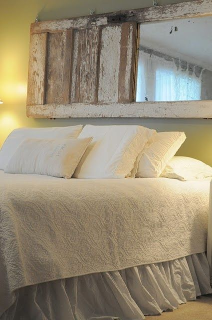 inspiracin de fin de semana espejos antiguos como cabeceros de cama etxekodeco