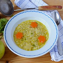 Amish Chicken Soup Recipe - homemade noodle soup, comforting and delicious.