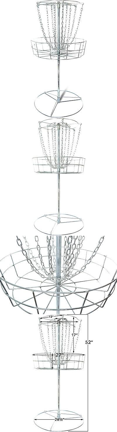 Disc Golf 20851: Titan Disc Golf Basket Double Chains Portable Practice Target Steel Frisbee Hole BUY IT NOW ONLY: $74.99