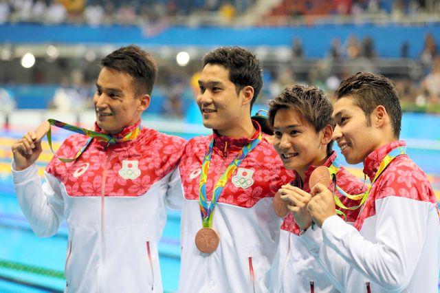 競泳男子800リレー、日本が銅 メダルは52年ぶり:朝日新聞デジタル