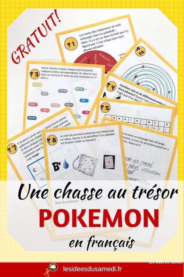 comment organiser un anniversaire pokemon avec une chasse au tr u00e9sor  u00e0 imprimer en fran u00e7ais  jeu