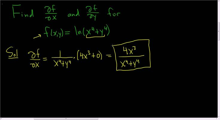 First Order Partial Derivatives of f(x, y) = ln(x^4 + y^4)