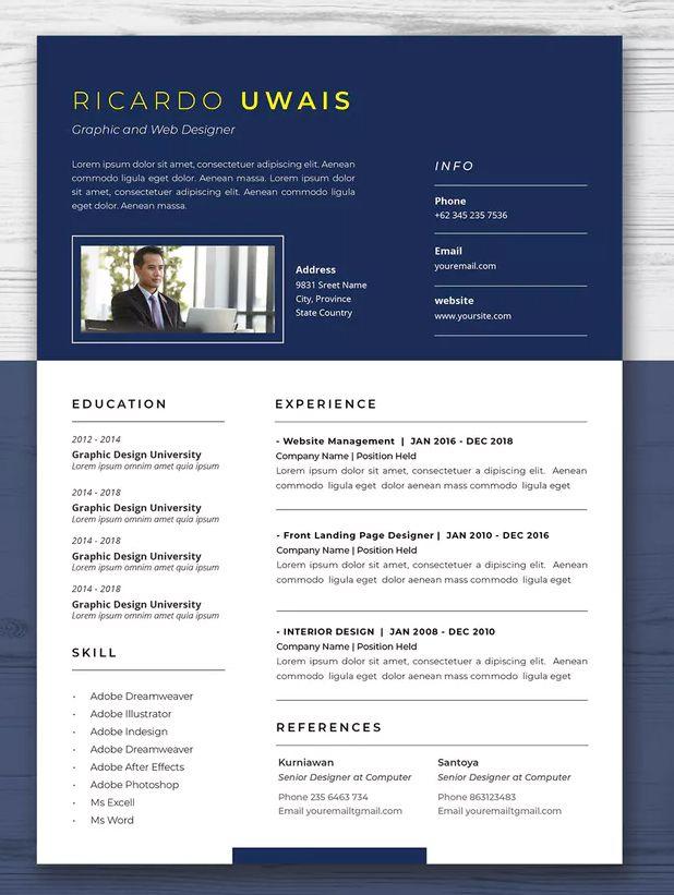 Cv Resume Template InDesign INDD