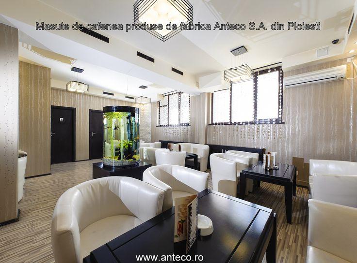 Mese din lemn masiv pentru cafenea produse de fabrica de mobila Anteco S.A. din Ploiesti pot fi personalizate in functie de dimensinile si culorile solicitate de dumneavoastra.