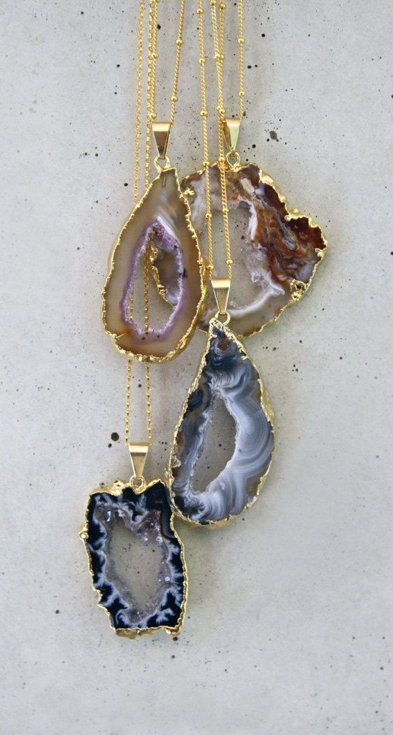We love agate, druzy and other natural gemstones and rocks!