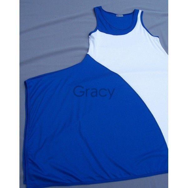Gracy - Gracy <br /> Jurk tweekleurig kobalt