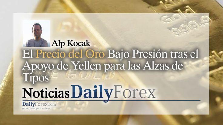 El Precio del Oro Bajo Presión tras el Apoyo de Yellen para las Alzas de Tipos   EspacioBit -  https://espaciobit.com.ve/main/2017/09/27/precio-del-oro-bajo-presion-tras-apoyo-yellen-para-las-alzas-tipos/ #Forex #DailyForex #Oro #Gold #XAU