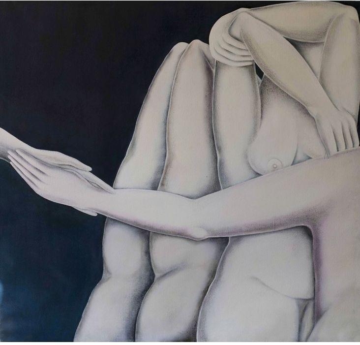 Untitled 2008-oil on cavas cm 150x150