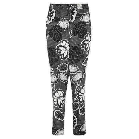 Levélmintás nadrág, ami ideális hétköznapi viselet és egész nap kényelmes.