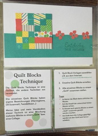 Faux Quilt Blocks Technik