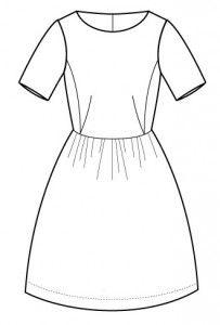 Grace 50ér kjole str. 36-46   Grace 50ér kjole. Sy selv i denne sæsons mest trendy farve. Brug kontrast farver så helheden ikke bliver alt for bleg. (34) 36 (38) 40 (42) 44 (46) Beskrivelse 50'er kjole hvor du vælger en overdel, et skørt og en lynlås. 3 variationer på overdel, 3 variationer på skørt. Modellen kan syes med synlig eller skjult lynlås. Overdel A: uden ærmer Overdel B: med 3/4 ærmer Overdel C: med kort ærme Skørt A: med læg Skørt B: med rynk Skørt C: fuld sol  Størrelse 34 36 38…