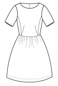 grace-50_r-kjole-str.-36-46- - syselv_festtoej - moenstre - shop - stof2000.dk -