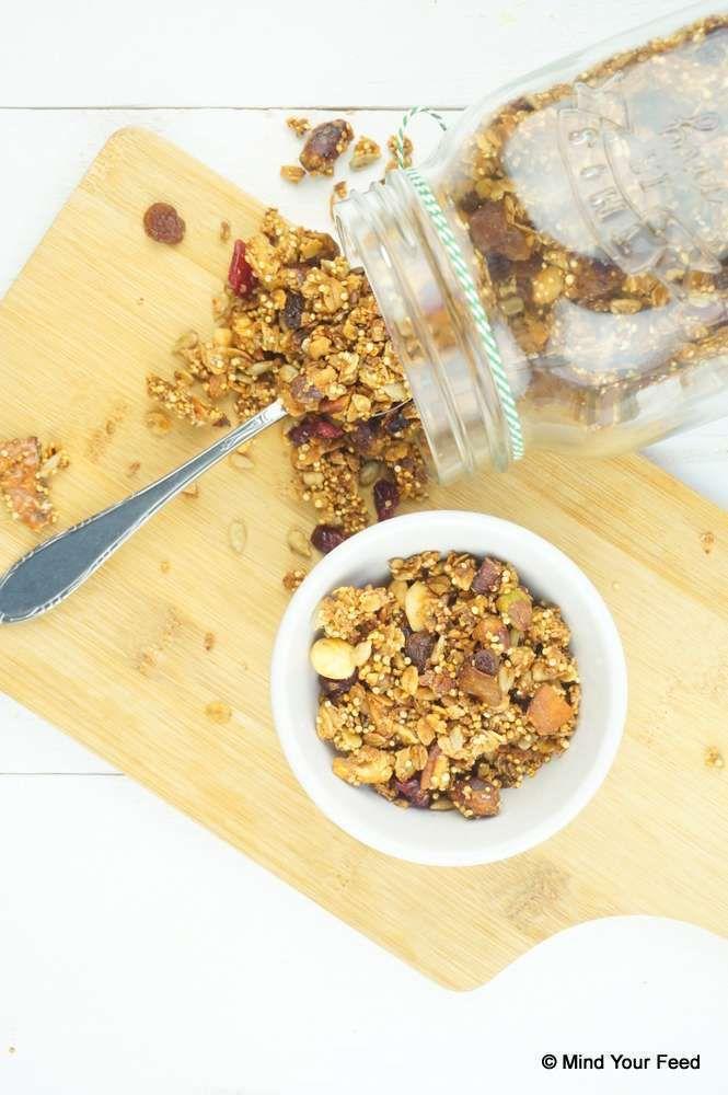 Granola met quinoa - glutenvrij - Mind Your Feed