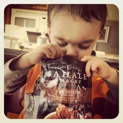 Kids love @Sahale Snacks! #sahalesnacks
