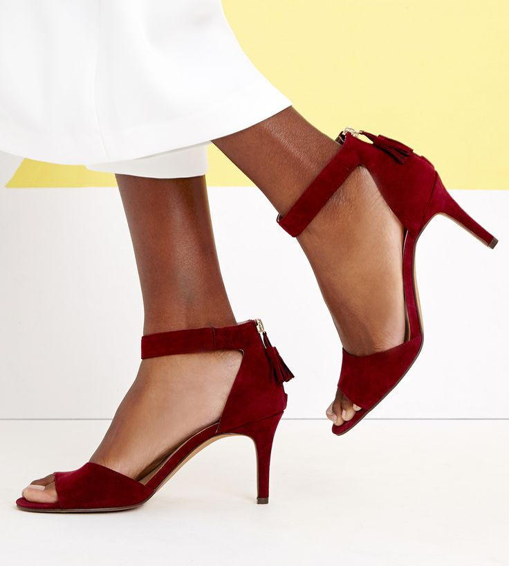 Chic suede party heels | SALE $55.97