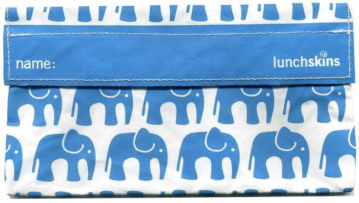 Lunchskins Reusable Snack Bags- Aqua Elephant- Gorgeous, hand-sewn reusable snack bags from Lunchskins make snacking easy, eco and economical for busy mums and their kiddies. Children will LOVE the snack bag's bright colours and fun prints and eating snacks on the go and when out and about will be fuss-free for everyone.certified food-safe fabric #snackbag #reusablesnackbags #forkids