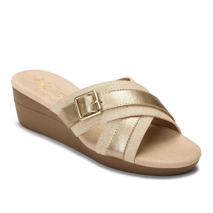 A2 by Aerosoles Florist Women's Wedge Sandals, Size: medium (10.5), Brown Over