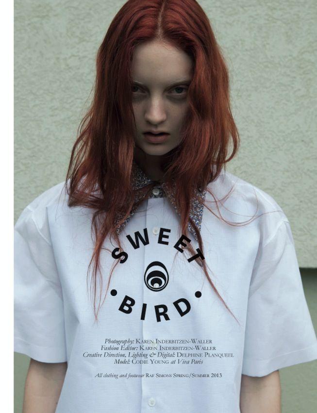 Ed. Sweet Bird – Black Magazine Fotografía: Karen Inderbitzen-Waller Modelo: Codie Young