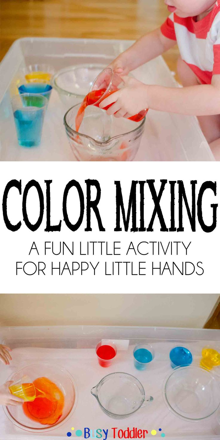 Color Mixing: A fun little activity for happy lttle hands.