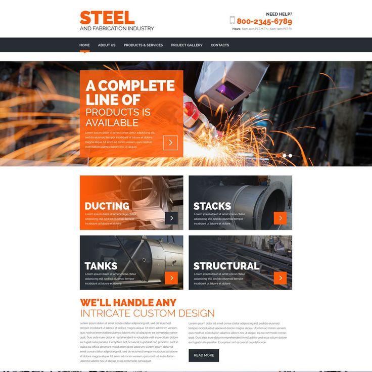 Steelworks Parallax Website Template Small Screenshot 57