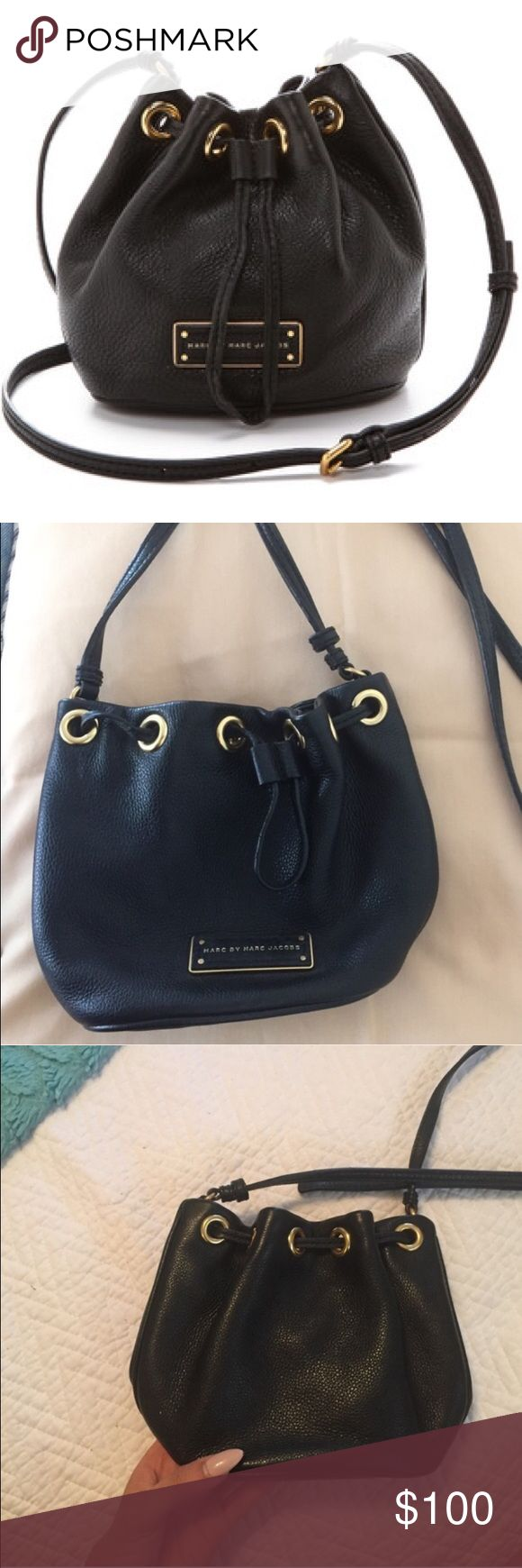 Marc by Marc Jacobs black leather bucket bag Marc by Marc Jacobs black leather bucket bag in amazing/perfect condition. Small sized bag Marc by Marc Jacobs Bags Crossbody Bags