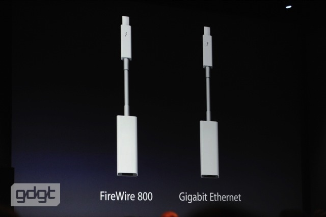 Apple unveils new accessories: Thunderbolt to Firewire 800, Thunderbolt to Ethernet