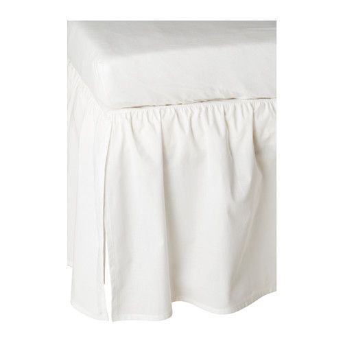 IKEA - LEN, Crib skirt, , Adding a crib skirt to the crib gives a warm and cozy touch.