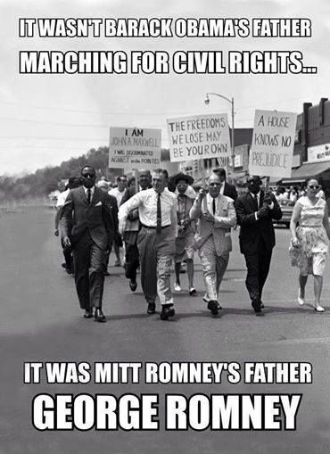 It wasn't Barack Obama's father marching for civil rights...libs don't even realize they are now and have always been the largest group of racists in America. NOTE The Democrats started the KKK. Democrat Senator Byrd was high ranking KKK until the day he died. Al Gore's father was also in the KKK. Google it. Learn our history. The blacks were told to vote Democrat or they would be killed.