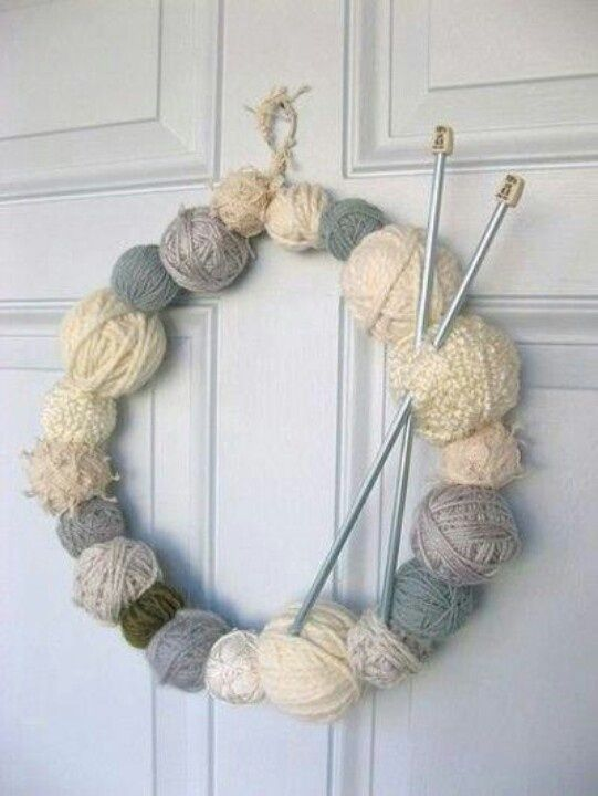 Yarn Balls | 50 Unexpected Wreaths You Can Make Out Of Anything