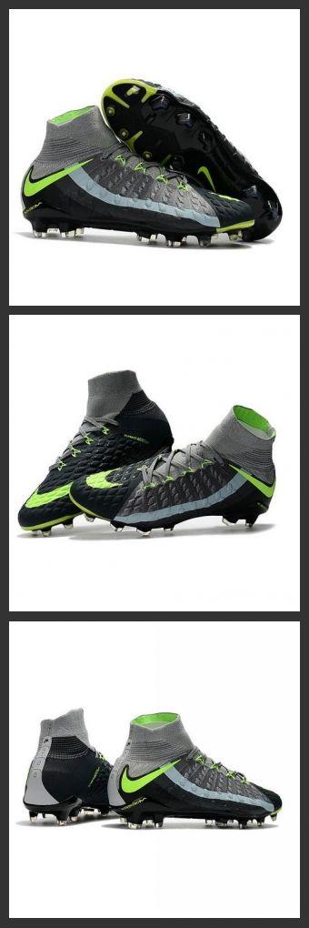 Scarpini Calcio Nike Hypervenom Phantom 3 FG ACC Grigeo Nero Verde,le scarpe da calcio hypervenom dispongono di un misto di tacchetti a forma esagonale e chevron per una migliore trazione rotazionale e laterale su terreni naturali compatti.