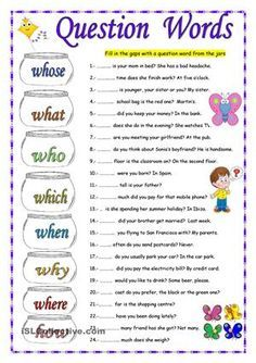 Sts fill in the gaps with the correct question Word. On the second page they choose the correct option. Ana :-)) - ESL worksheets
