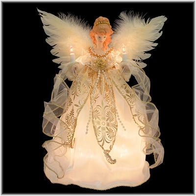 12 inch ivory and gold angel tree top - 12 Inch Christmas Tree