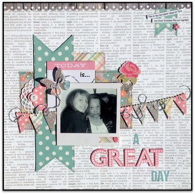 #papercraft #scrapbook #layout. GrandDiva's Creative Corner: Scrappy Friends June Challenge and WINNERS!!!!!