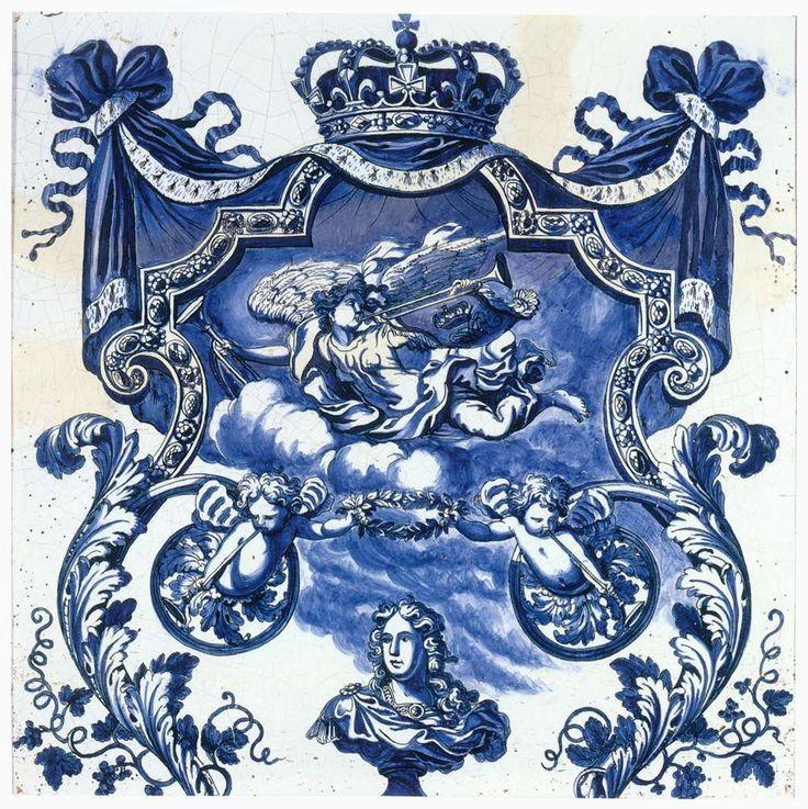Плитка с. 1690 Tin-глазурованная керамика, 69 х 69 см Музей искусств Метрополитен, Нью-Йорк  eva_k2